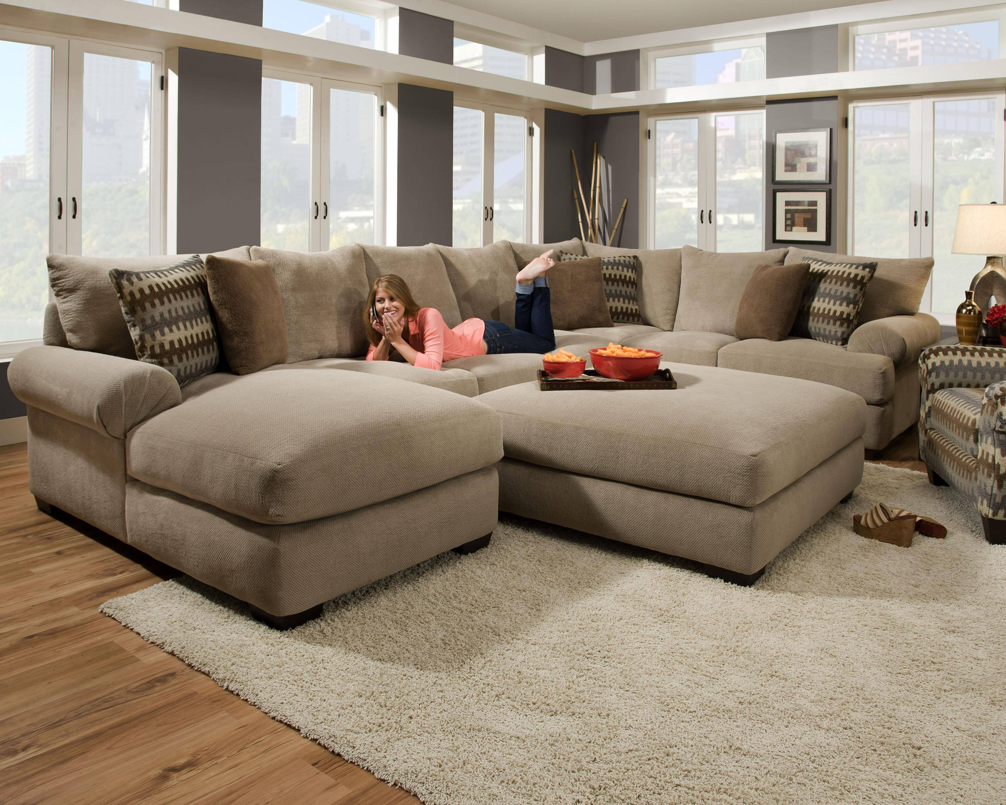 Furniture: Interesting Living Room Interior Using Large Sectional intended for Large Sofa Sectionals (Image 10 of 25)