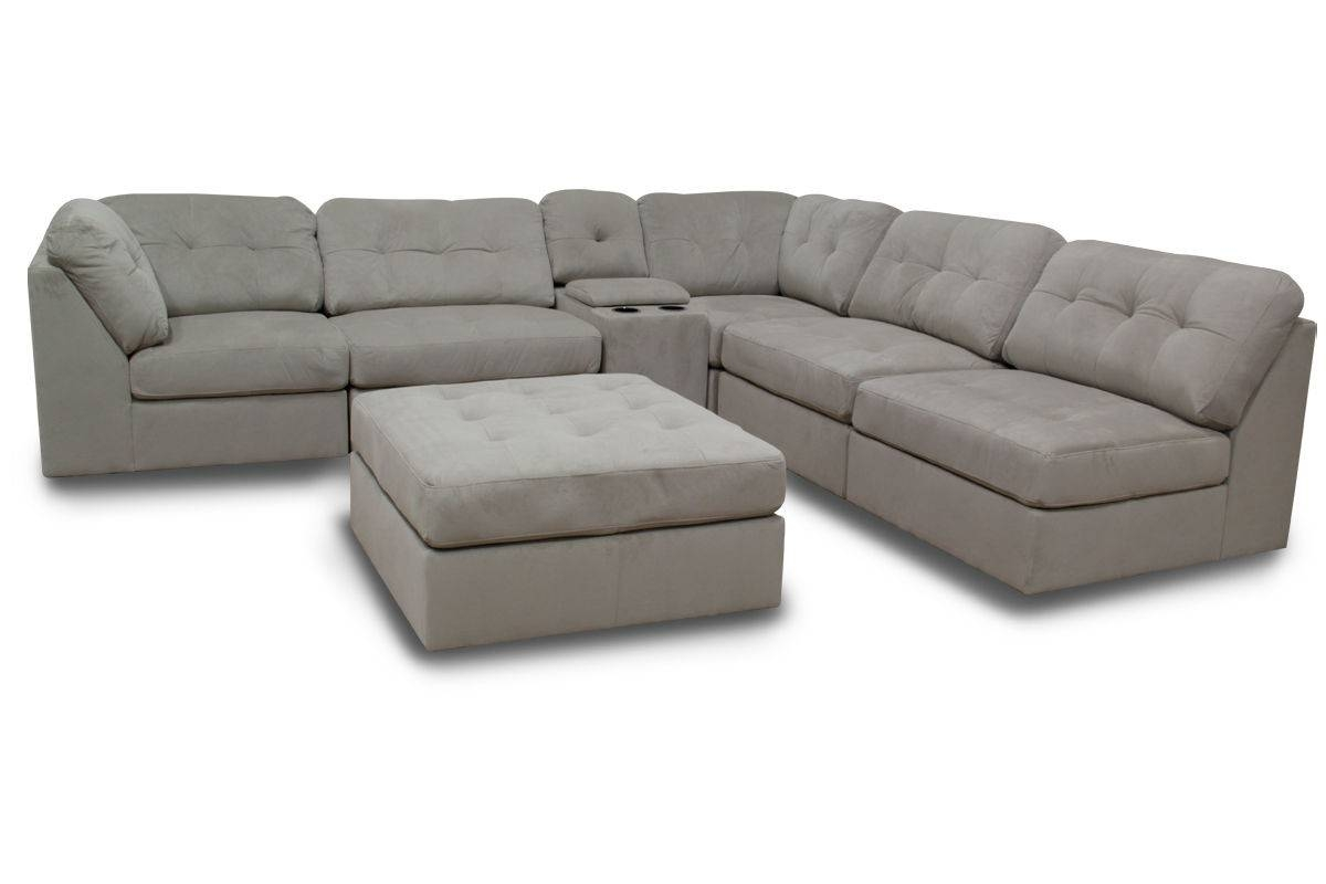 Furniture: Interesting Microfiber Sectional For Living Room in 6 Piece Modular Sectional Sofa (Image 15 of 30)