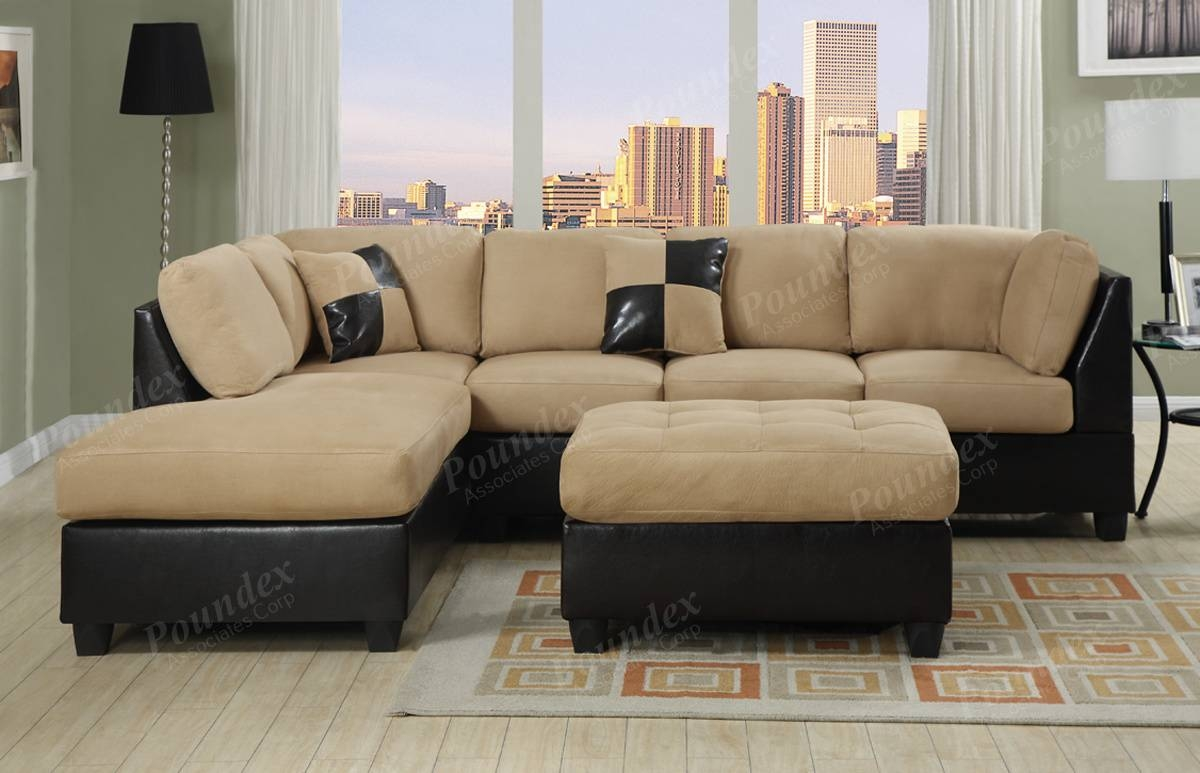 Furniture: Interesting Microfiber Sectional For Living Room throughout Black Sectional Sofa for Cheap (Image 10 of 30)