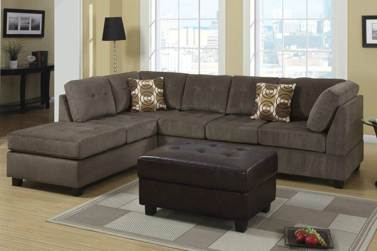 Furniture: Interesting Microfiber Sectional For Living Room with regard to Leather and Suede Sectional Sofa (Image 7 of 25)