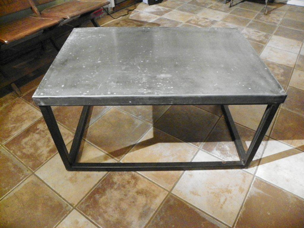 Furniture. Interesting Zinc Coffee Table Design Ideas: Silver throughout Coffee Table Industrial Style (Image 18 of 30)