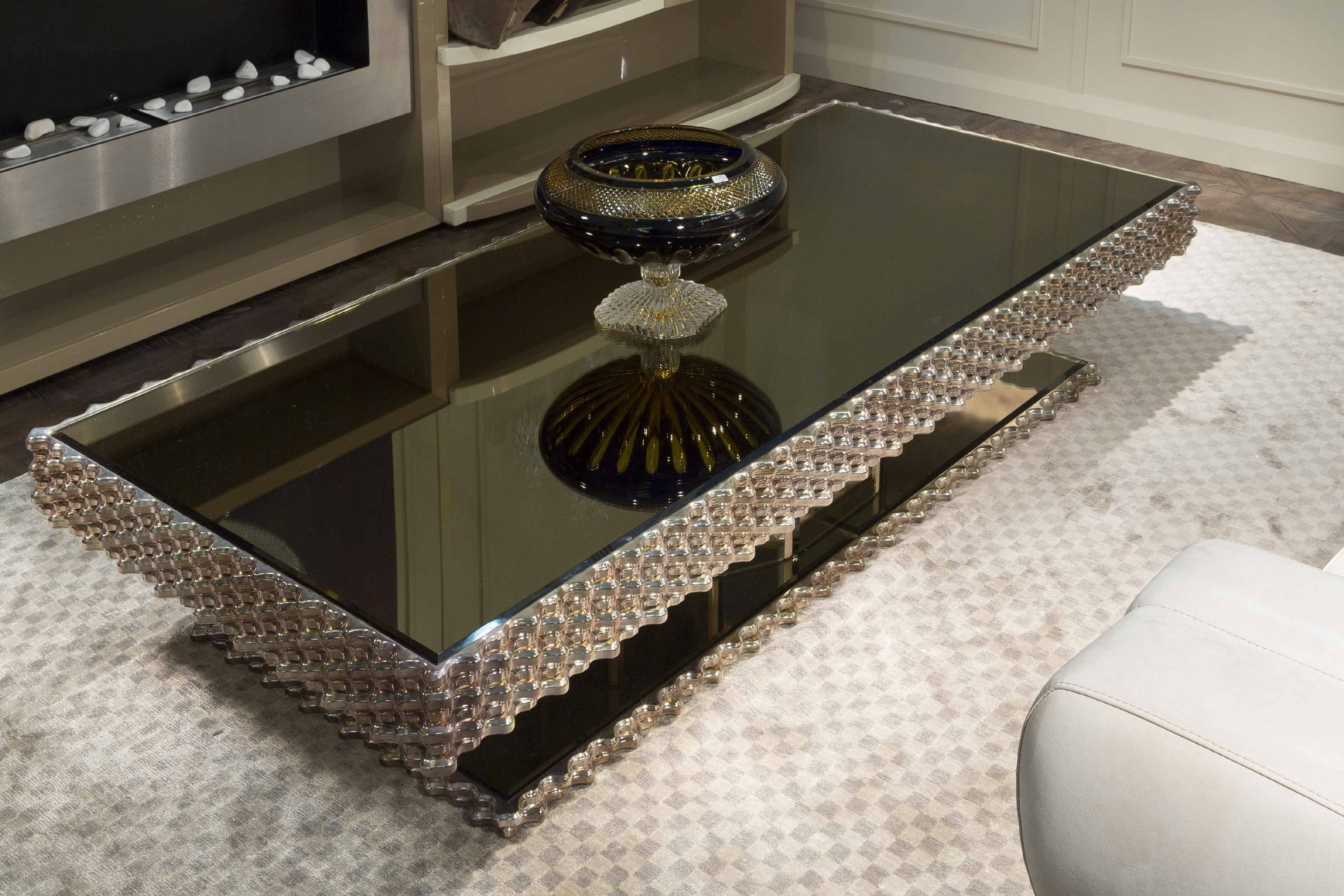 Furniture. Interesting Zinc Coffee Table Design Ideas: Silver within Mirrored Coffee Tables (Image 8 of 30)