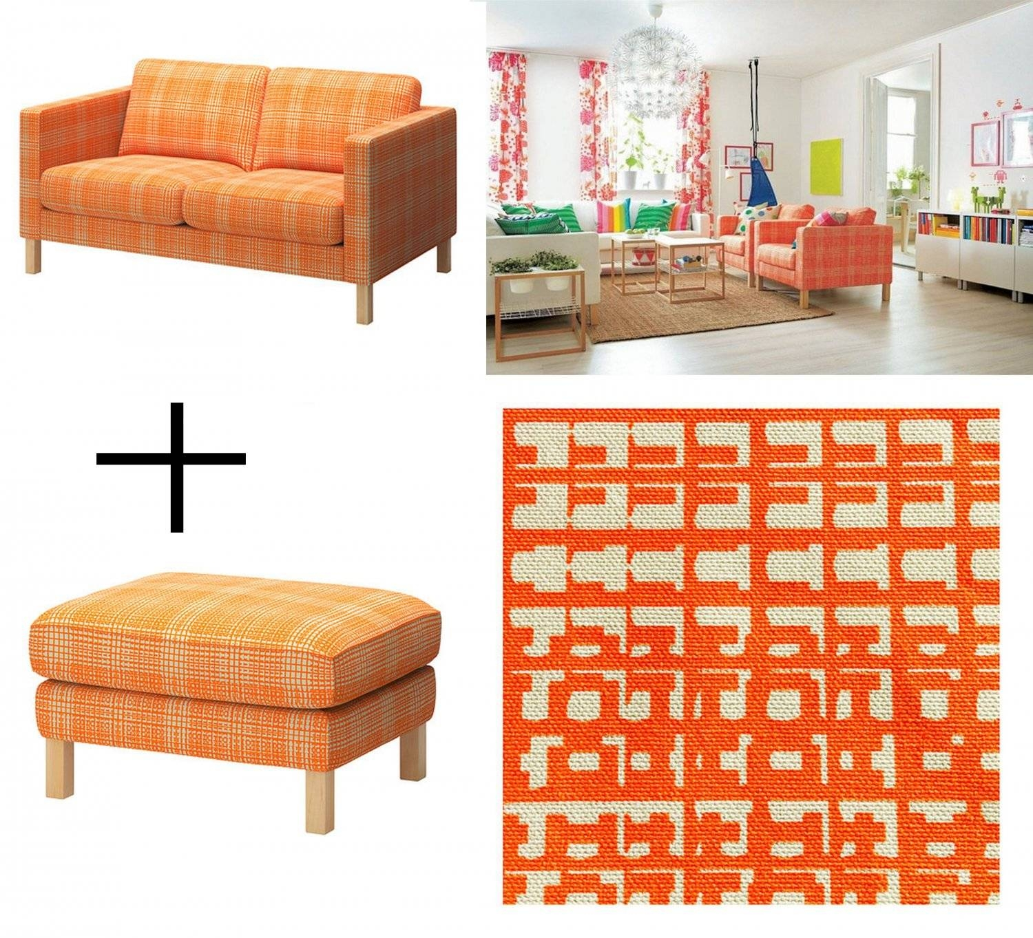 Furniture: Karlstad Loveseat For Those Who Like Natural And with Orange Ikea Sofas (Image 15 of 30)
