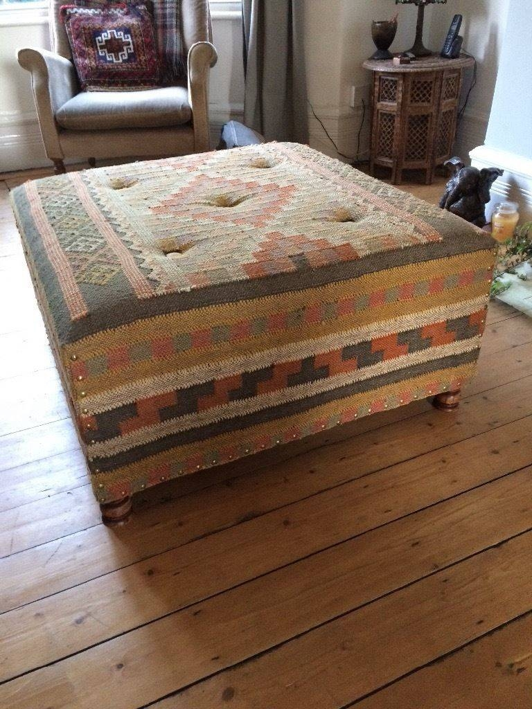 Furniture: Kilim Ottoman For Inspiring Attractive Living Furniture intended for Footstool Coffee Tables (Image 11 of 30)