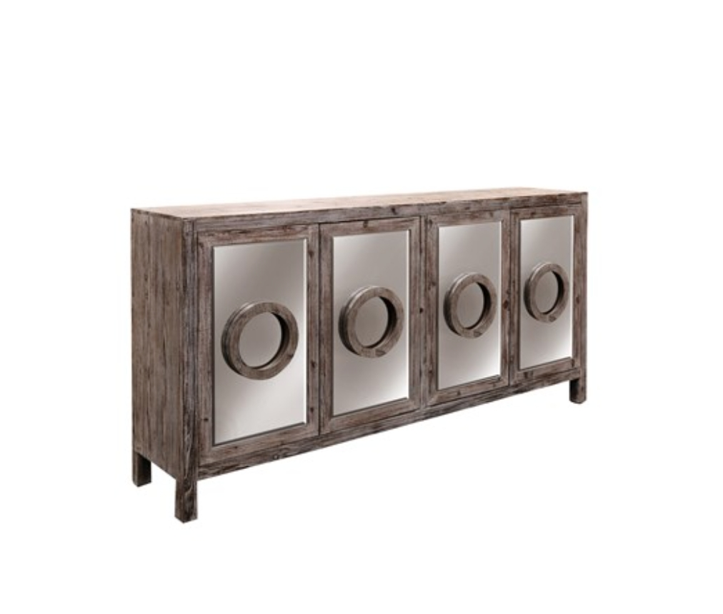 Furniture: Kitchen Hutch Buffet | Distressed Sideboard pertaining to Unfinished Sideboards (Image 12 of 30)