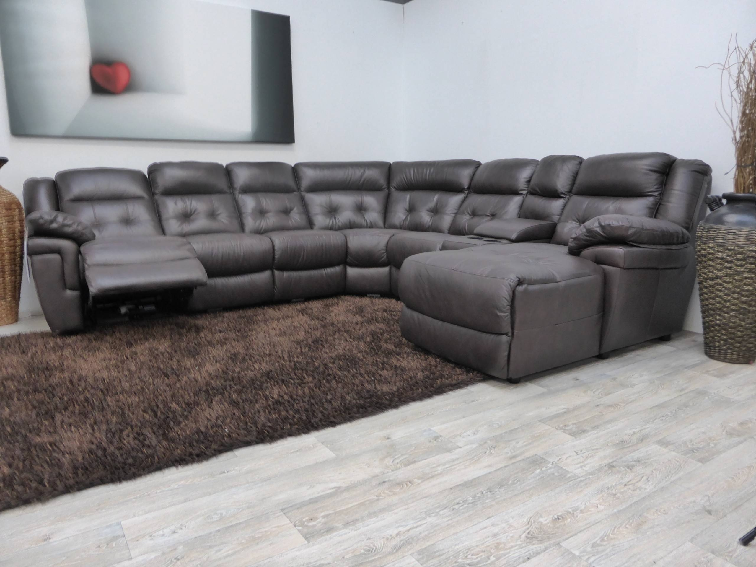 Sectional Sofa With Recliner Latest Leather Reclining Sectional