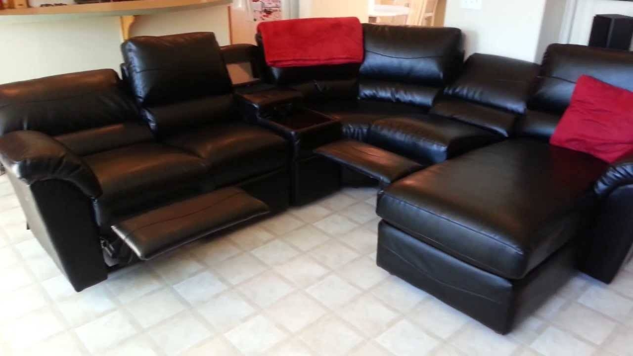 Furniture: Lazyboy Sectional With Cool Various Designs And Colors throughout Black Leather Sectional Sleeper Sofas (Image 15 of 30)