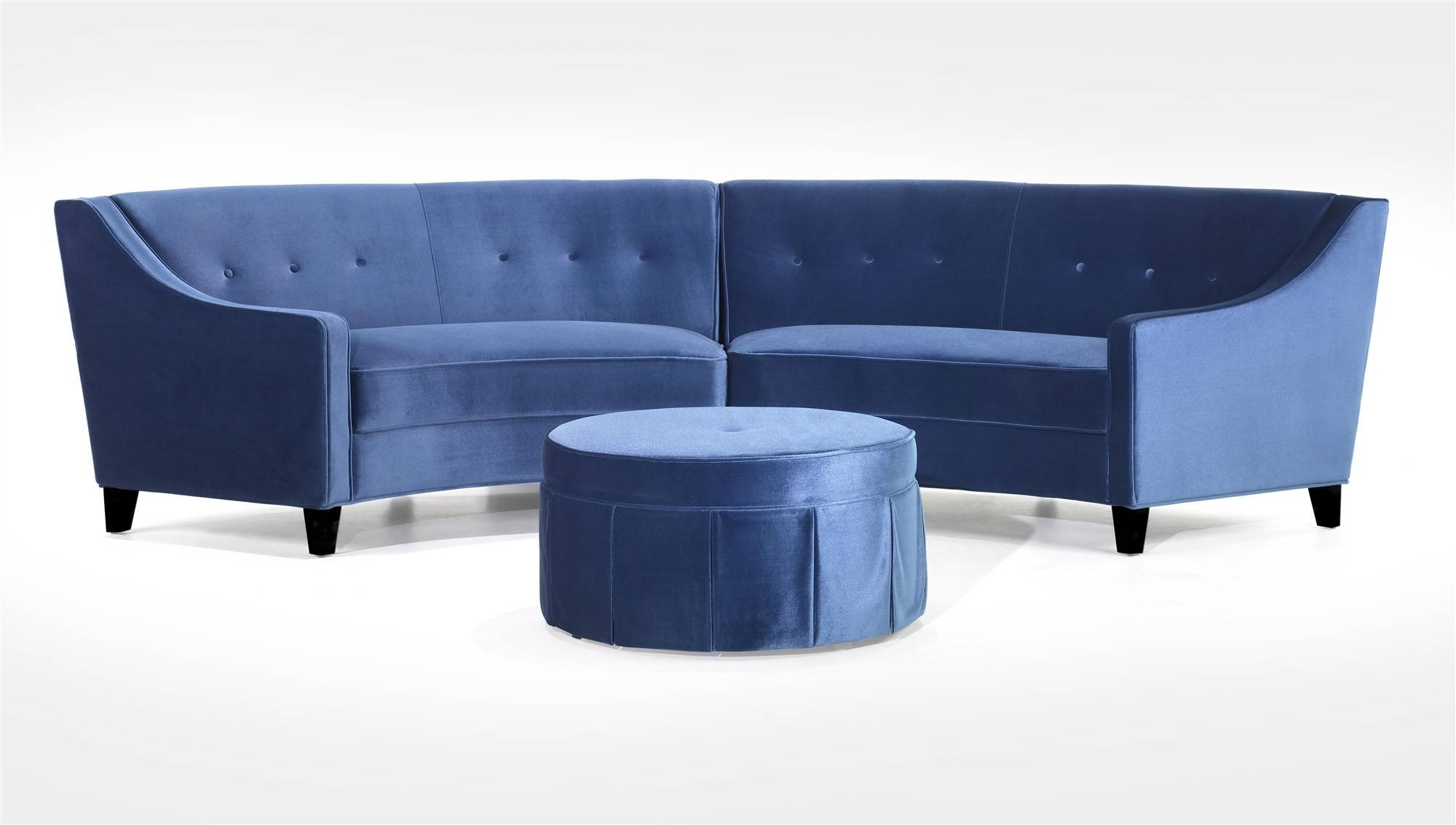 Furniture: Leather Curved Sectional Sofa With Wood Legs For Living intended for Circle Sectional Sofa (Image 9 of 30)