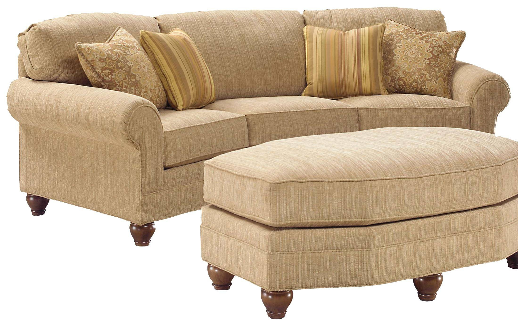 Furniture: Leather Curved Sectional Sofa With Wood Legs For Living pertaining to Wood Legs Sofas (Image 13 of 30)