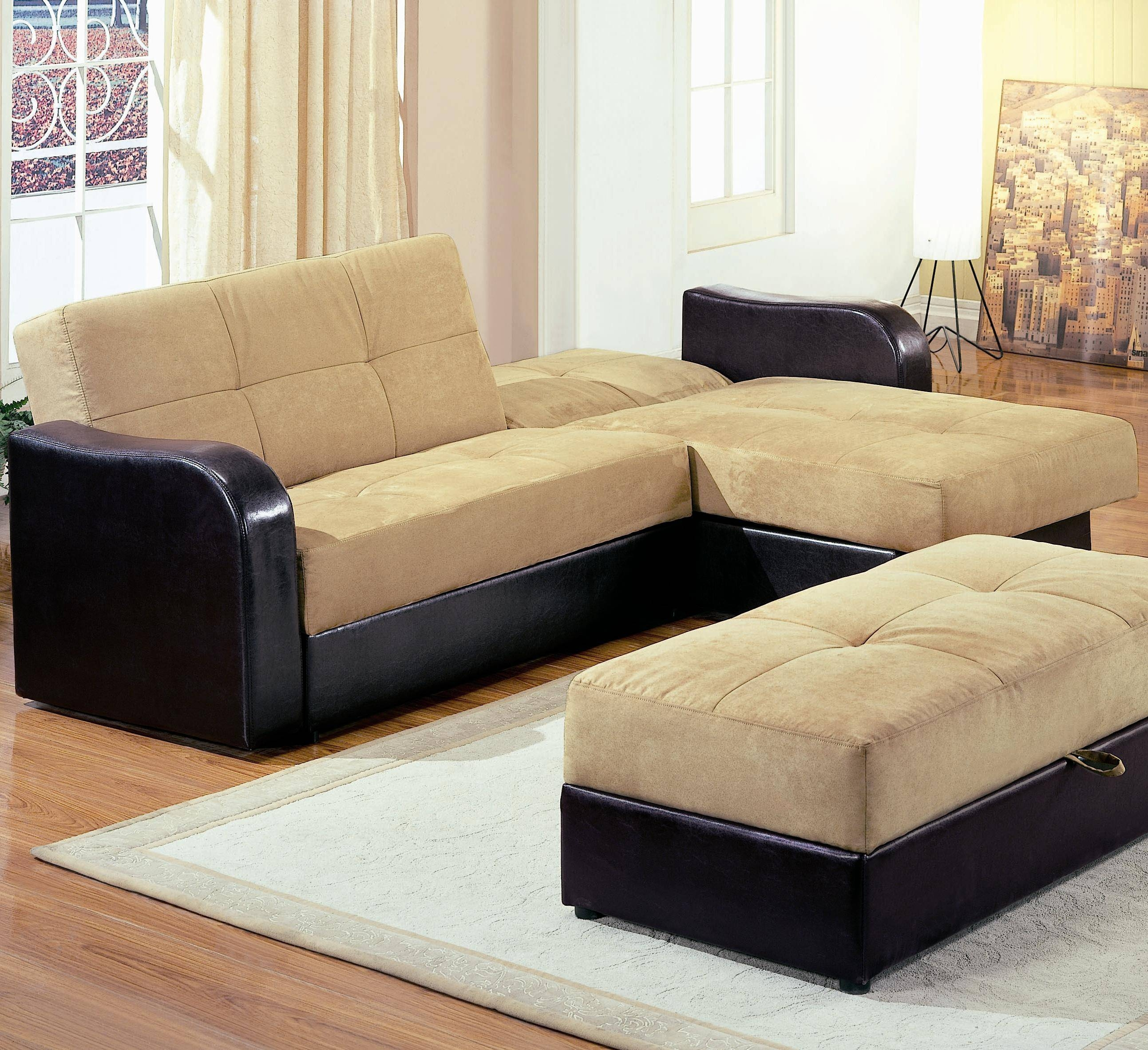 Furniture: Leather Sectional Sofa Bed And L Shaped Sleeper Sofa in Black Leather Sectional Sleeper Sofas (Image 16 of 30)
