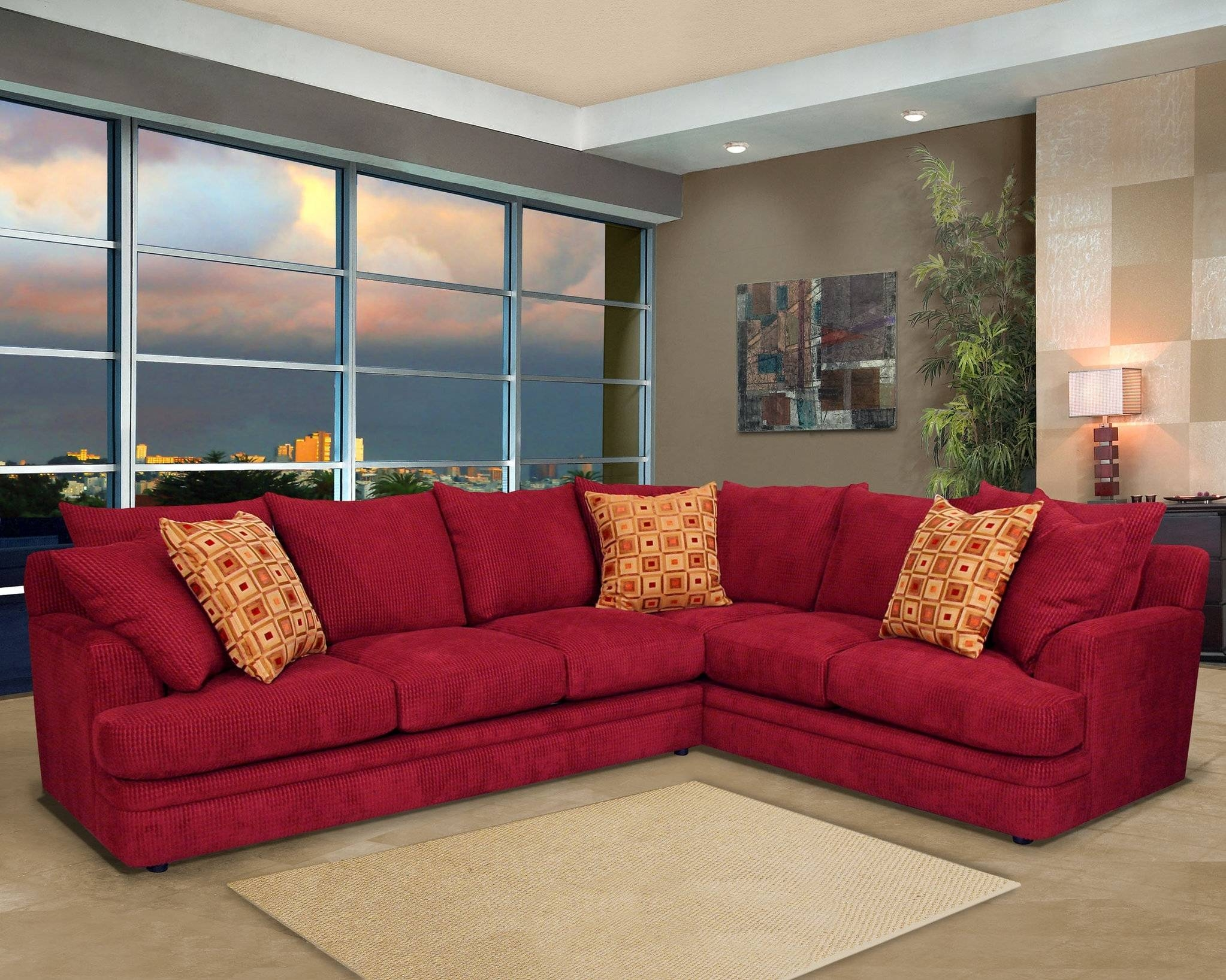 Furniture: Leather Sectional With Chaise | Oversized Sectional for Craftsman Sectional Sofa (Image 12 of 30)