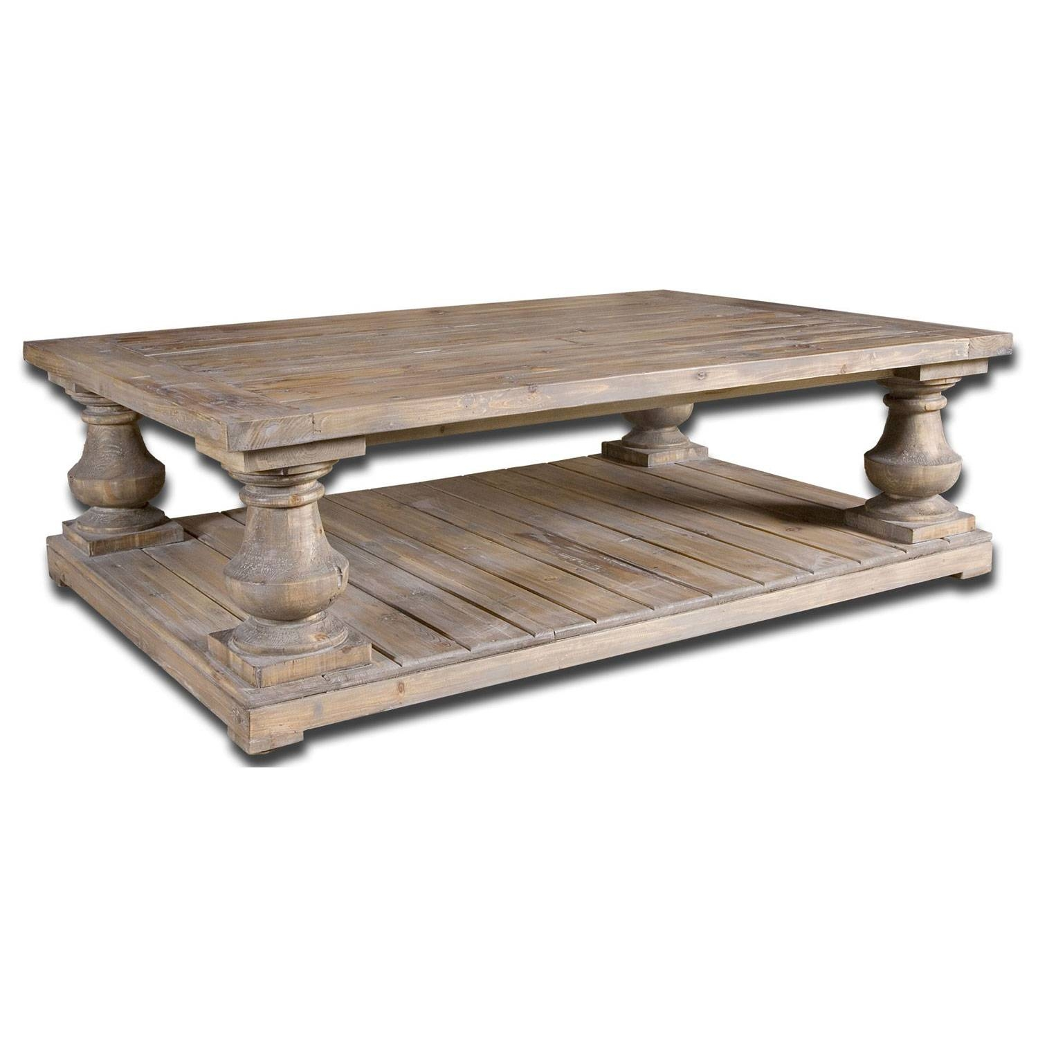 Furniture: Legend Star Distressed Coffee Table With Special Accent intended for Rustic Coffee Tables With Bottom Shelf (Image 23 of 30)