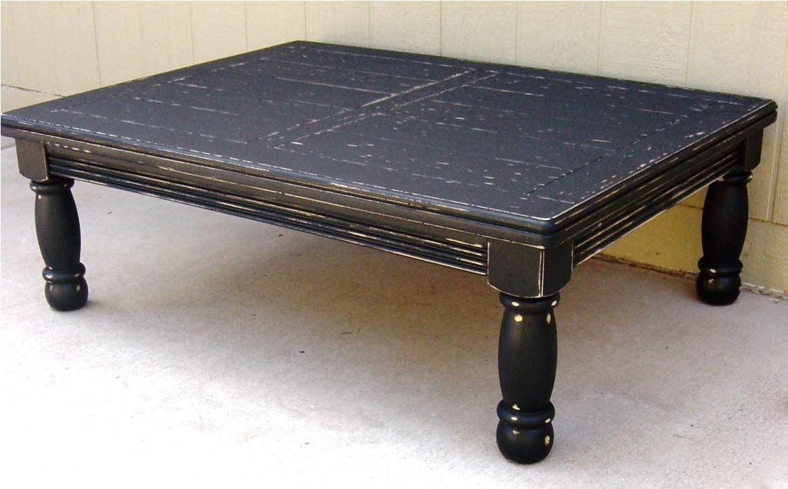 Furniture: Legend Star Distressed Coffee Table With Special Accent pertaining to Black Wood Coffee Tables (Image 26 of 30)