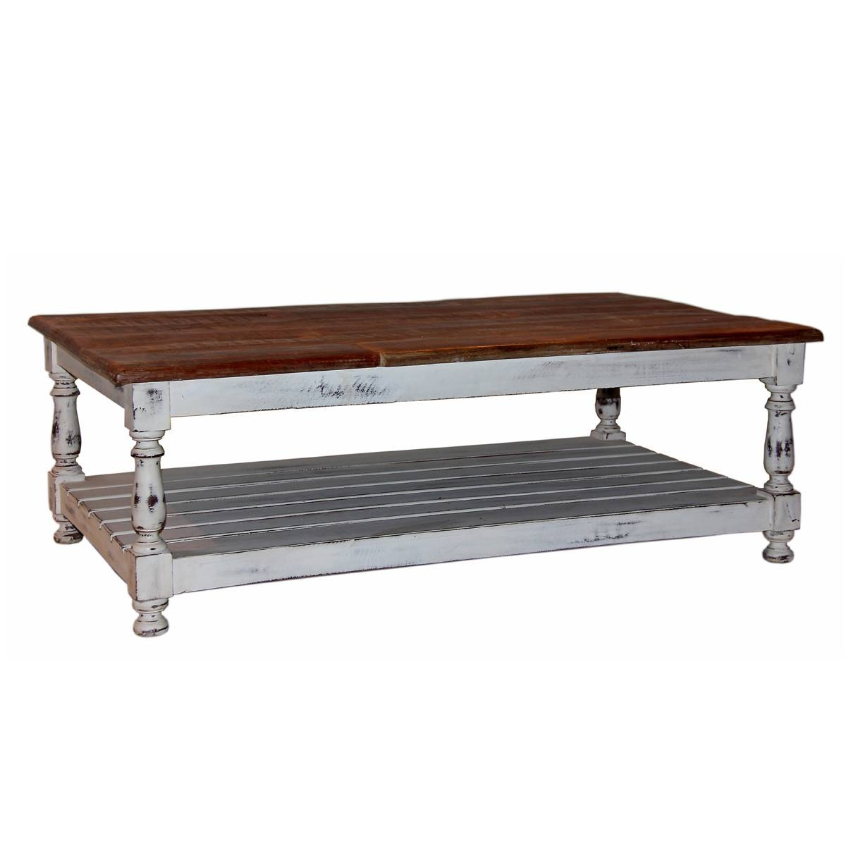 Furniture: Legend Star Distressed Coffee Table With Special Accent throughout Cream Coffee Tables With Drawers (Image 18 of 25)