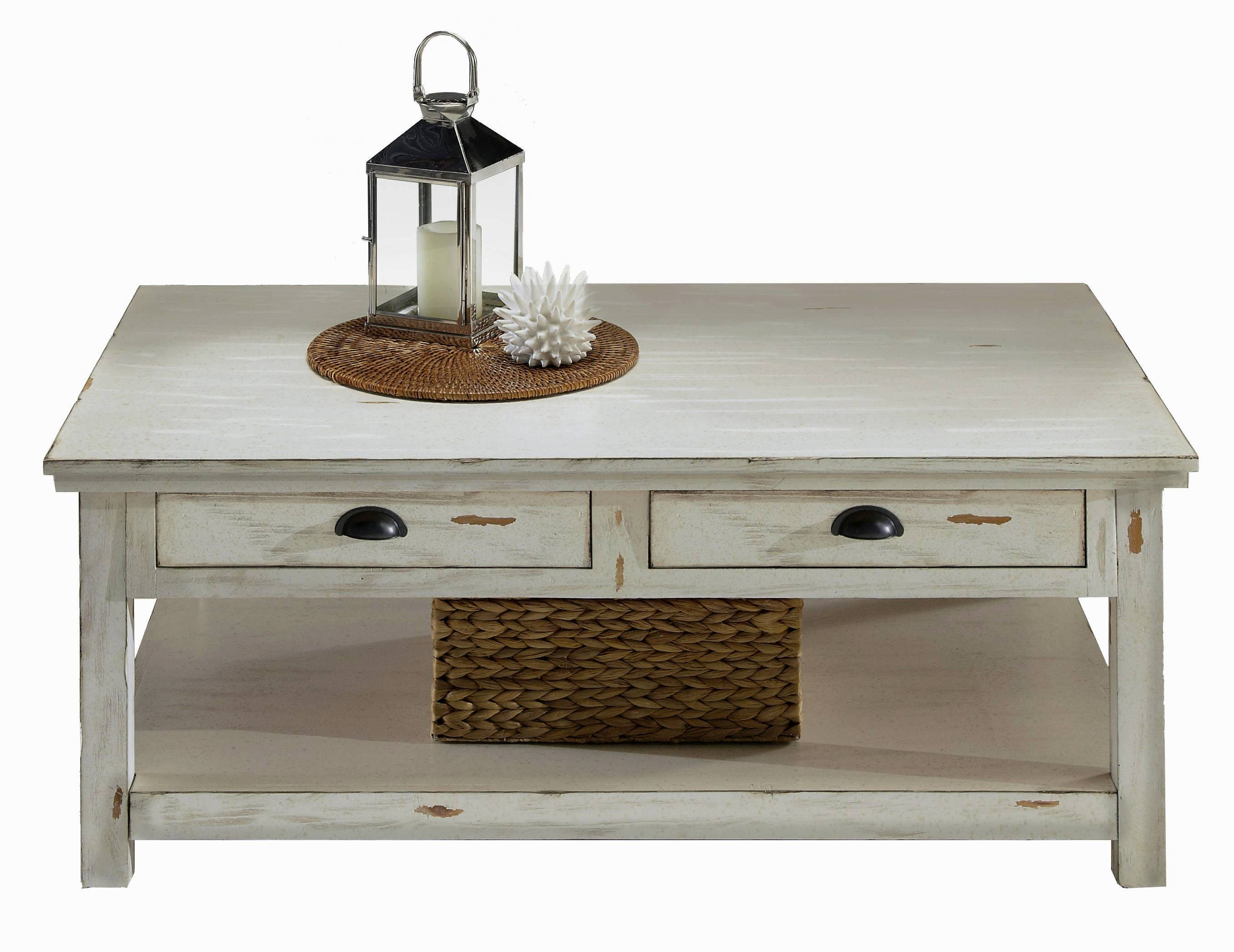 Furniture: Legend Star Distressed Coffee Table With Special Accent with White Coffee Tables With Baskets (Image 22 of 30)