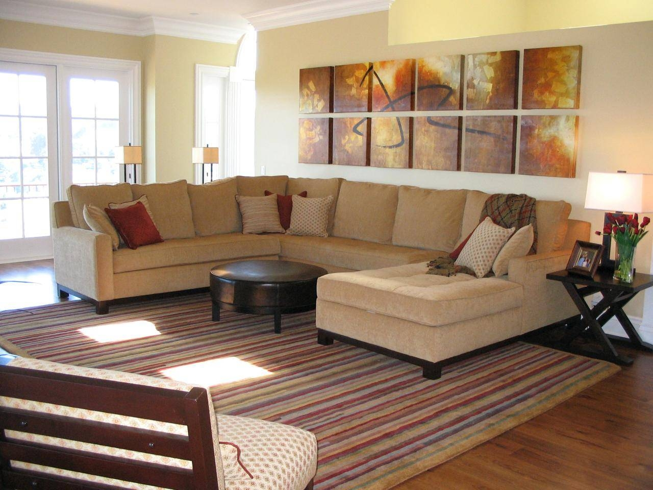 Furniture. Living Room With White Velvet Sectional Sofa Bed pertaining to Extra Large Sectional Sofas (Image 7 of 30)