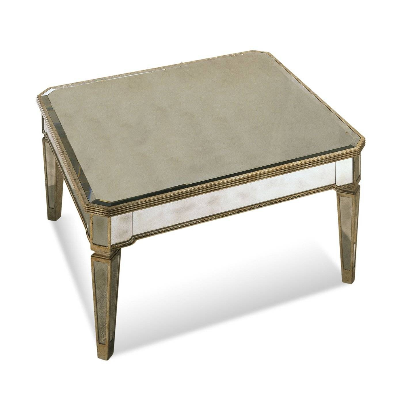 Furniture: Lovely Antique Square Mirrored Coffee Table With Iron inside Round Mirrored Coffee Tables (Image 10 of 30)