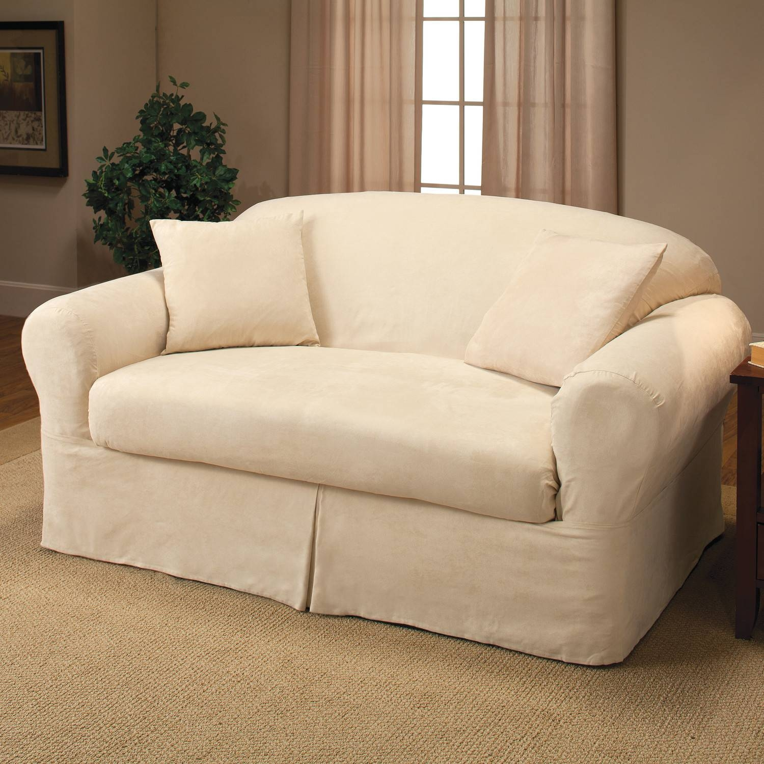 Furniture: Loveseat Cover | Slipcovers For Loveseats | Sofa Slip with regard to Sofa Loveseat Slipcovers (Image 11 of 30)