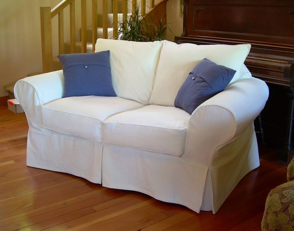 Furniture: Loveseat Cover | Slipcovers For Loveseats | Sofa Slip with Sofa Loveseat Slipcovers (Image 12 of 30)