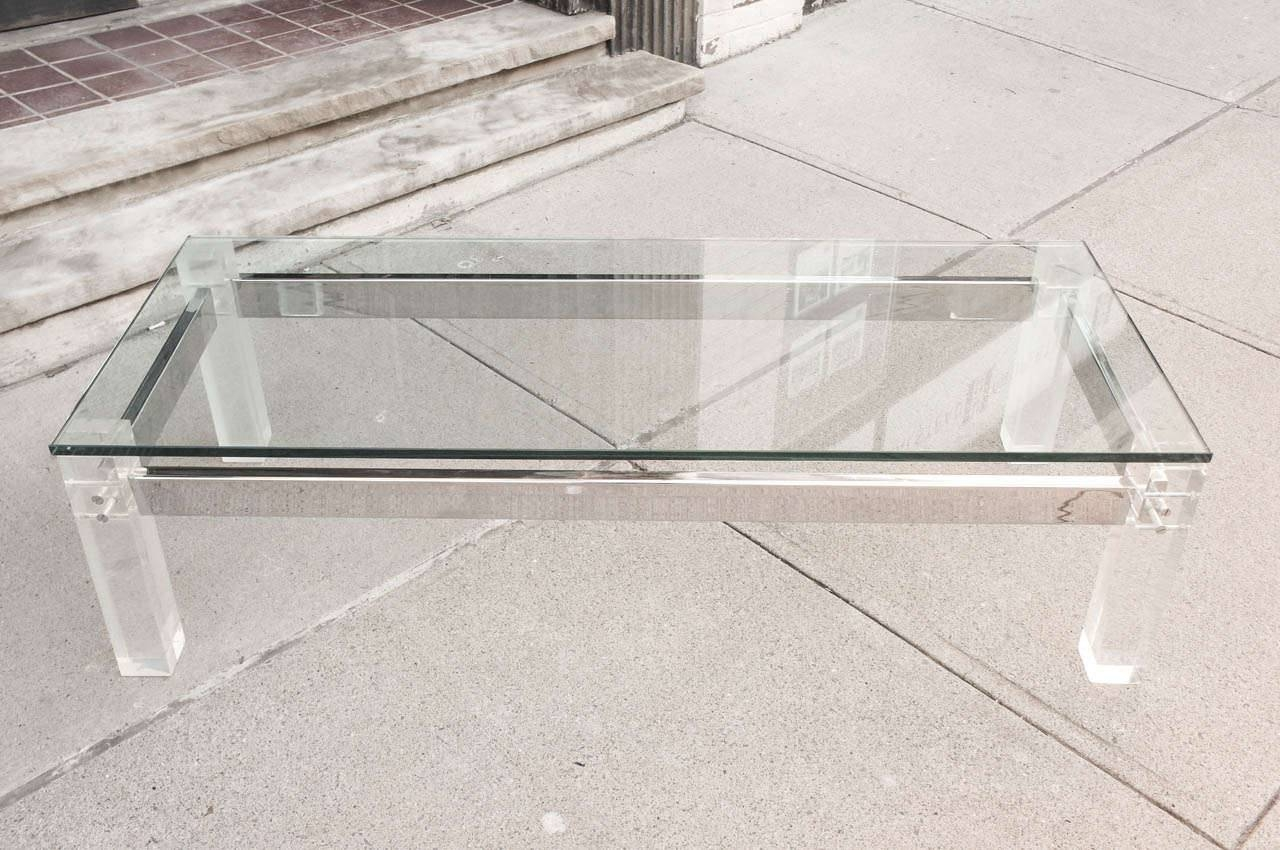Furniture: Lucite And Glass Coffee Table | Lucite Coffee Table with regard to Unusual Glass Coffee Tables (Image 18 of 30)