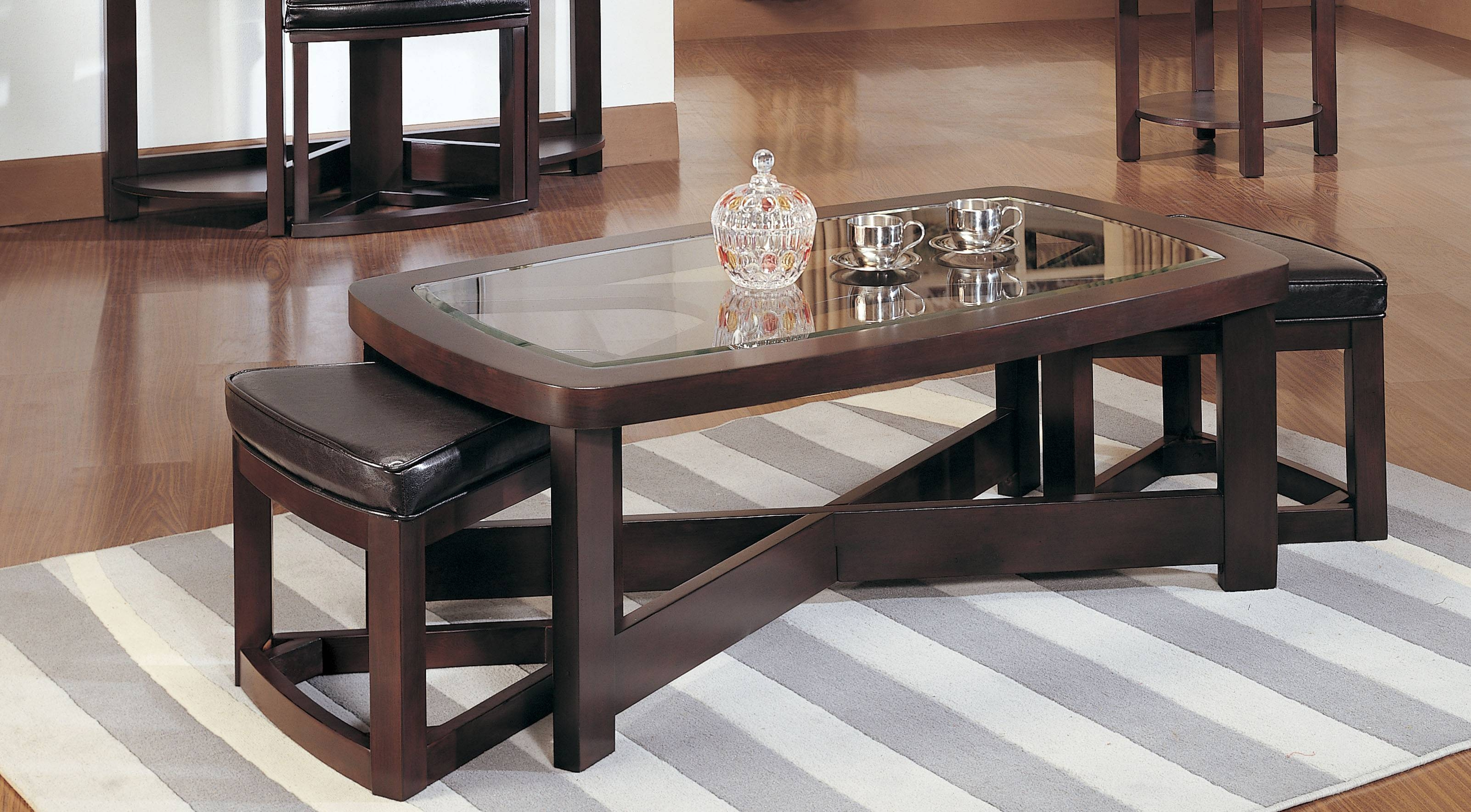 Furniture: Luxury Coffee Table With Stools For Living Room for Coffee Table With Chairs (Image 23 of 30)