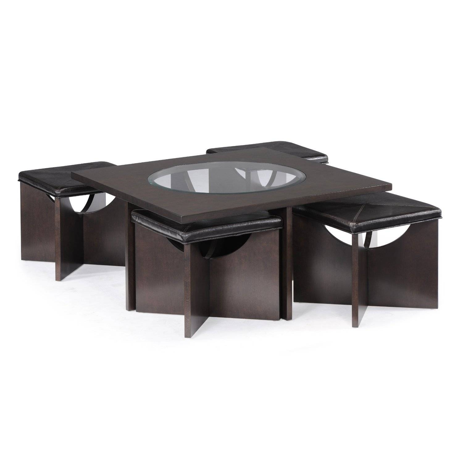 Furniture: Luxury Coffee Table With Stools For Living Room With Regard To Coffee Table With Chairs (View 25 of 30)
