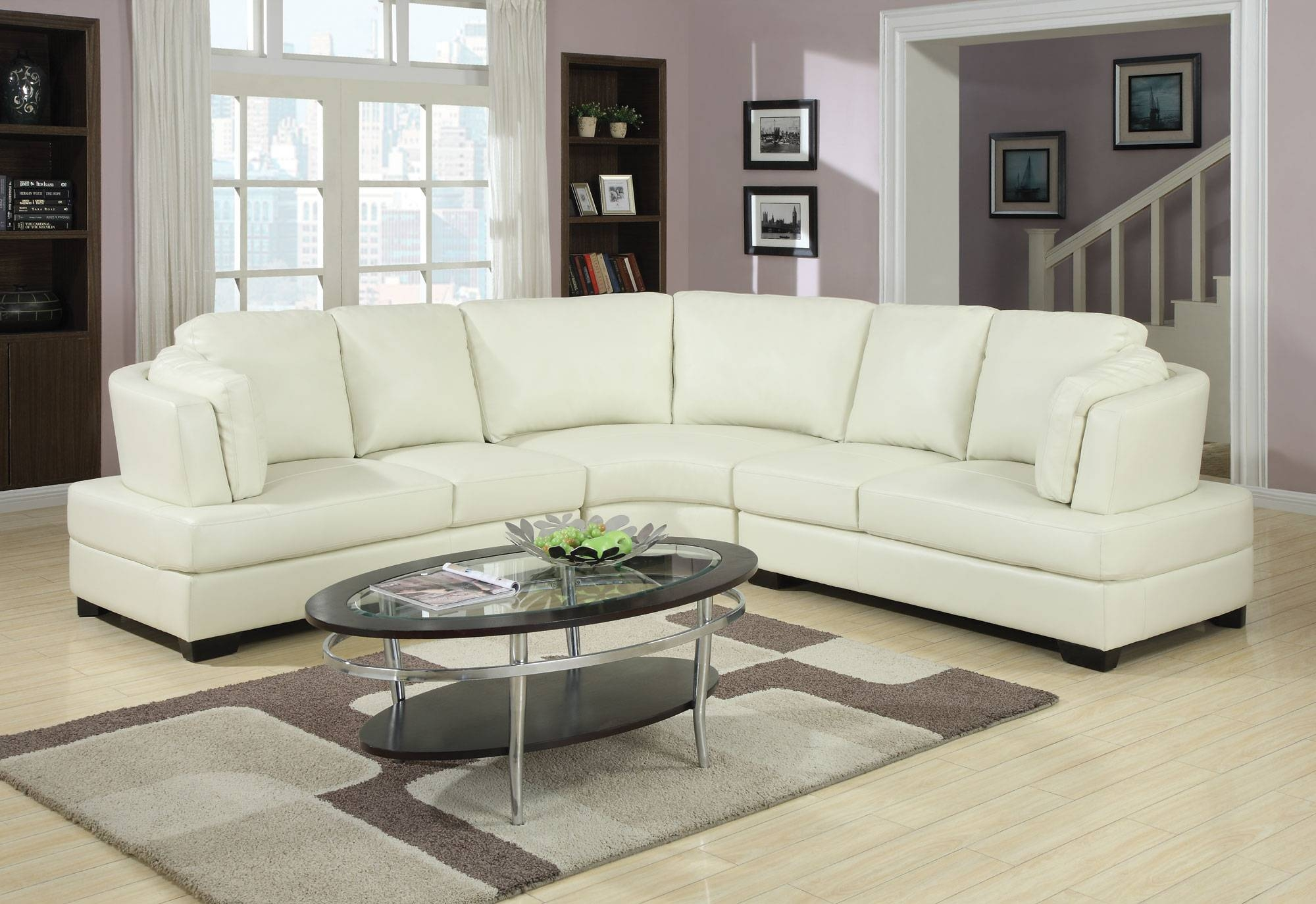 Furniture: Luxury Curved Sectional Sofa For Living Room Furniture regarding Oval Sofas (Image 9 of 30)