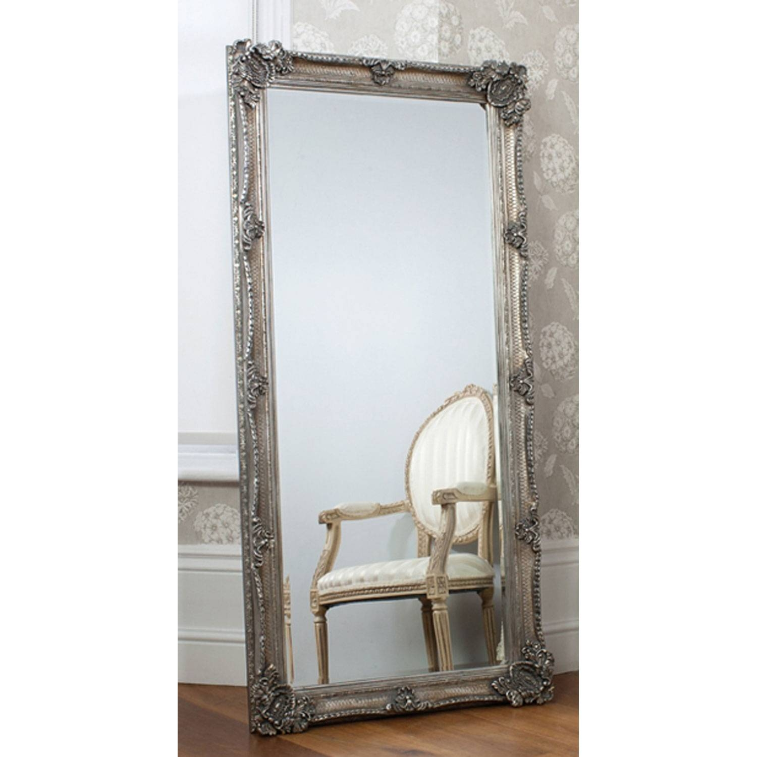 Furniture: Luxury Leaner Mirror For Home Accessories Ideas — Mtyp in Large Pewter Mirrors (Image 7 of 25)