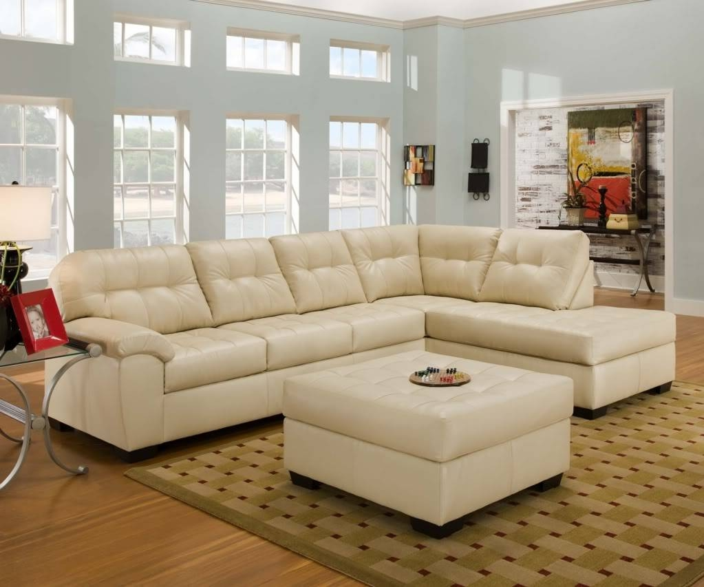Furniture: Luxury Leather Sectional Sofa For Elegant Living Room intended for Cream Sectional Leather Sofas (Image 5 of 12)