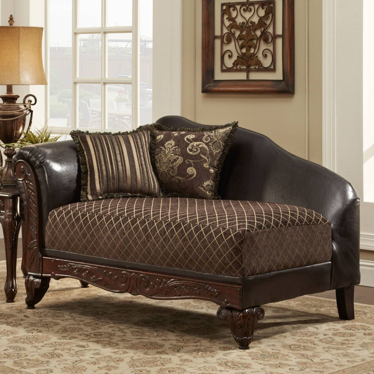 Furniture: Luxury Modern Chair Design With Leather Chaise for Chaise Sofa Chairs (Image 14 of 15)