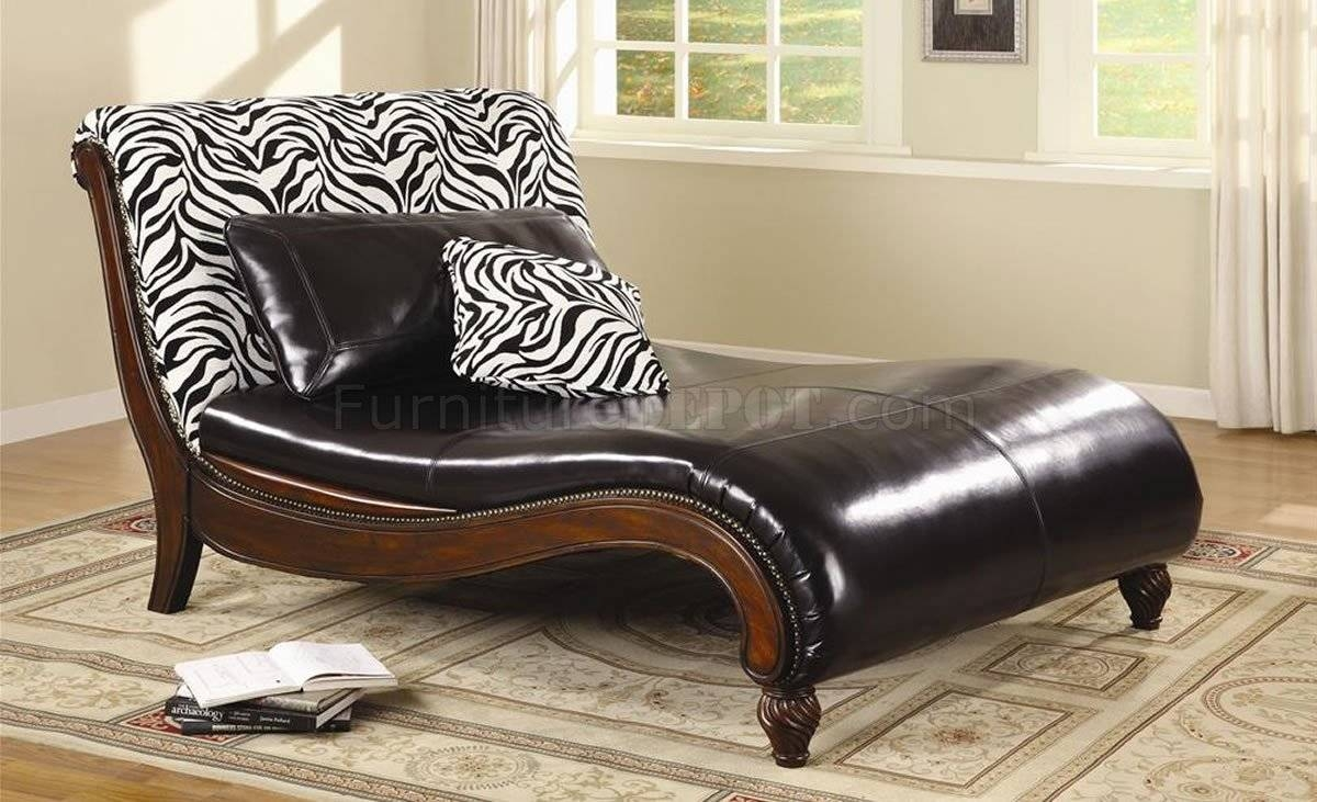 Furniture: Luxury Modern Chair Design With Leather Chaise inside Sofas With Chaise Longue (Image 13 of 30)