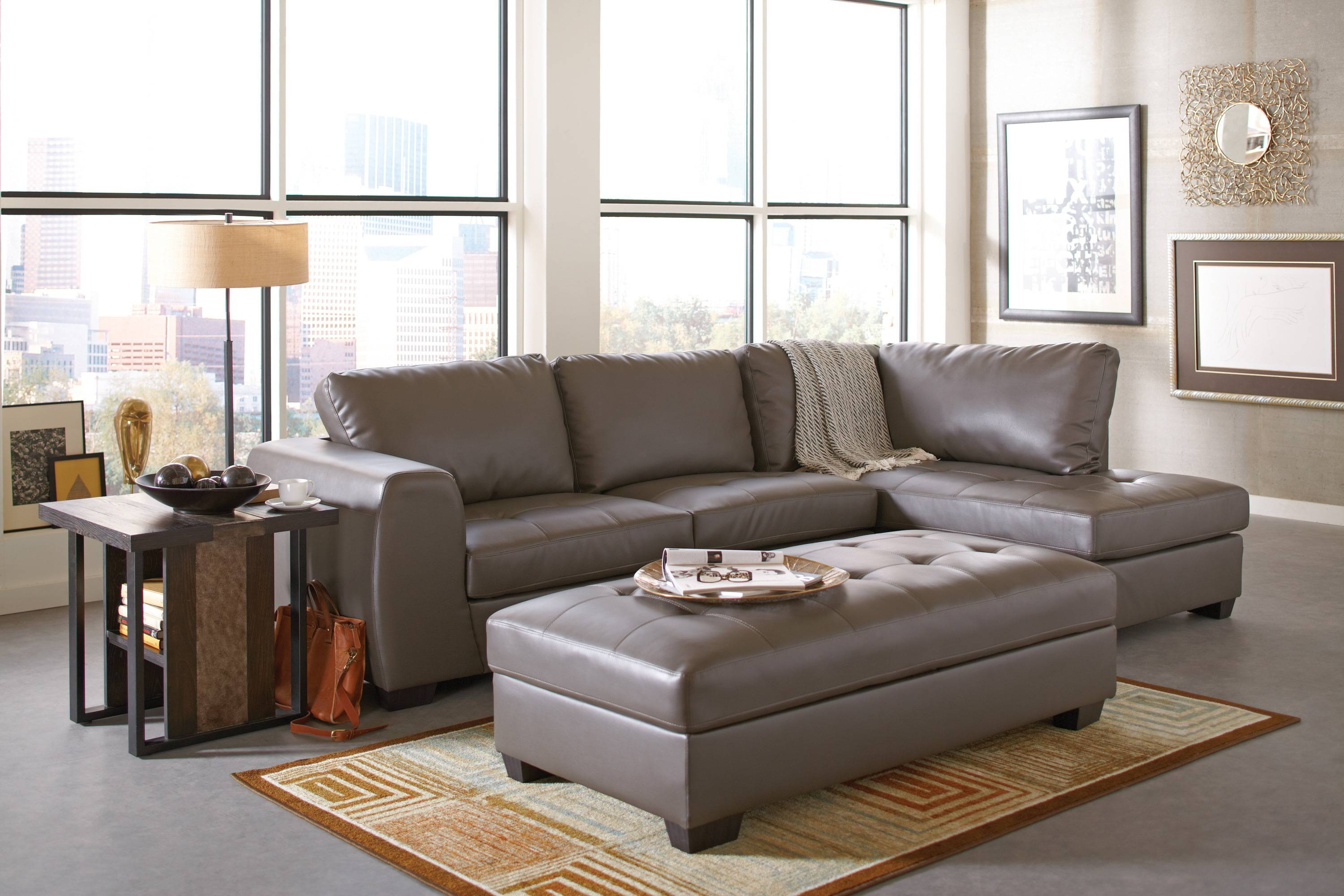 Furniture: Mesmerizing Costco Sectionals Sofa For Cozy Living Room intended for Leather Sofa Sectionals For Sale (Image 9 of 30)