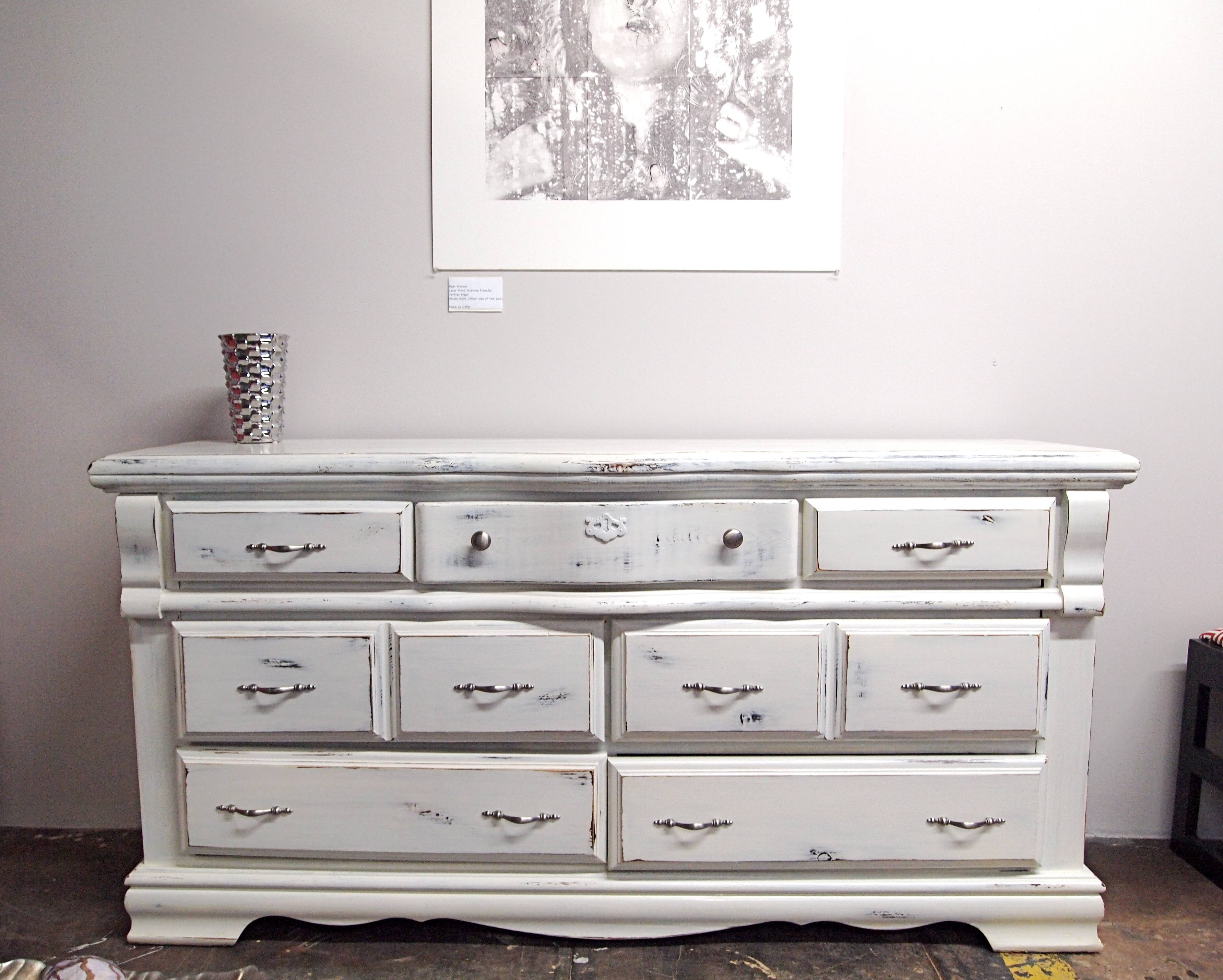 Furniture: Mesmerizing Distressed Dresser For Home Furniture Ideas pertaining to White Distressed Finish Sideboards (Image 21 of 30)