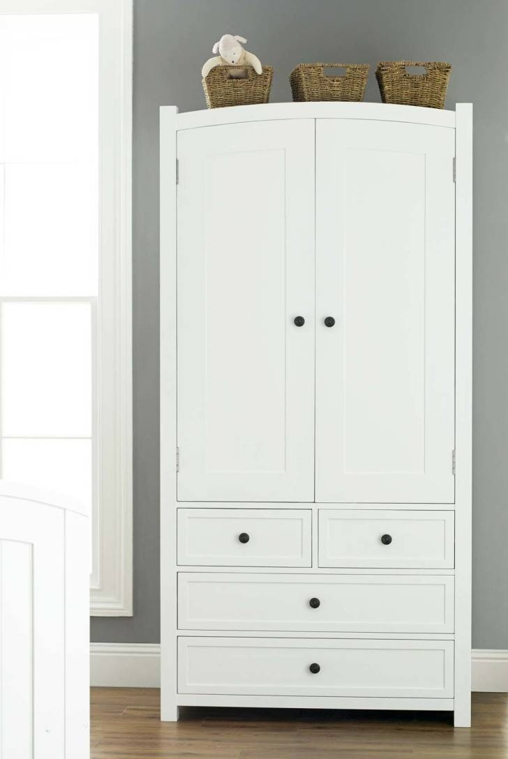 Furniture. Mesmerizing Kids Wardrobe With Drawers As The Lovable for White Wood Wardrobes (Image 5 of 15)