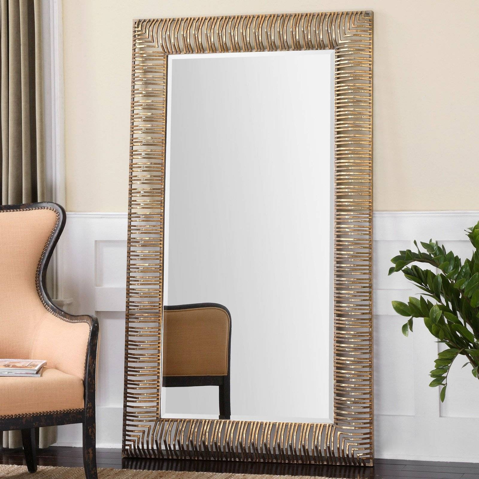 Furniture: Mesmerizing Oversized Floor Mirror For Home Furniture pertaining to Full Length Decorative Mirrors (Image 17 of 25)