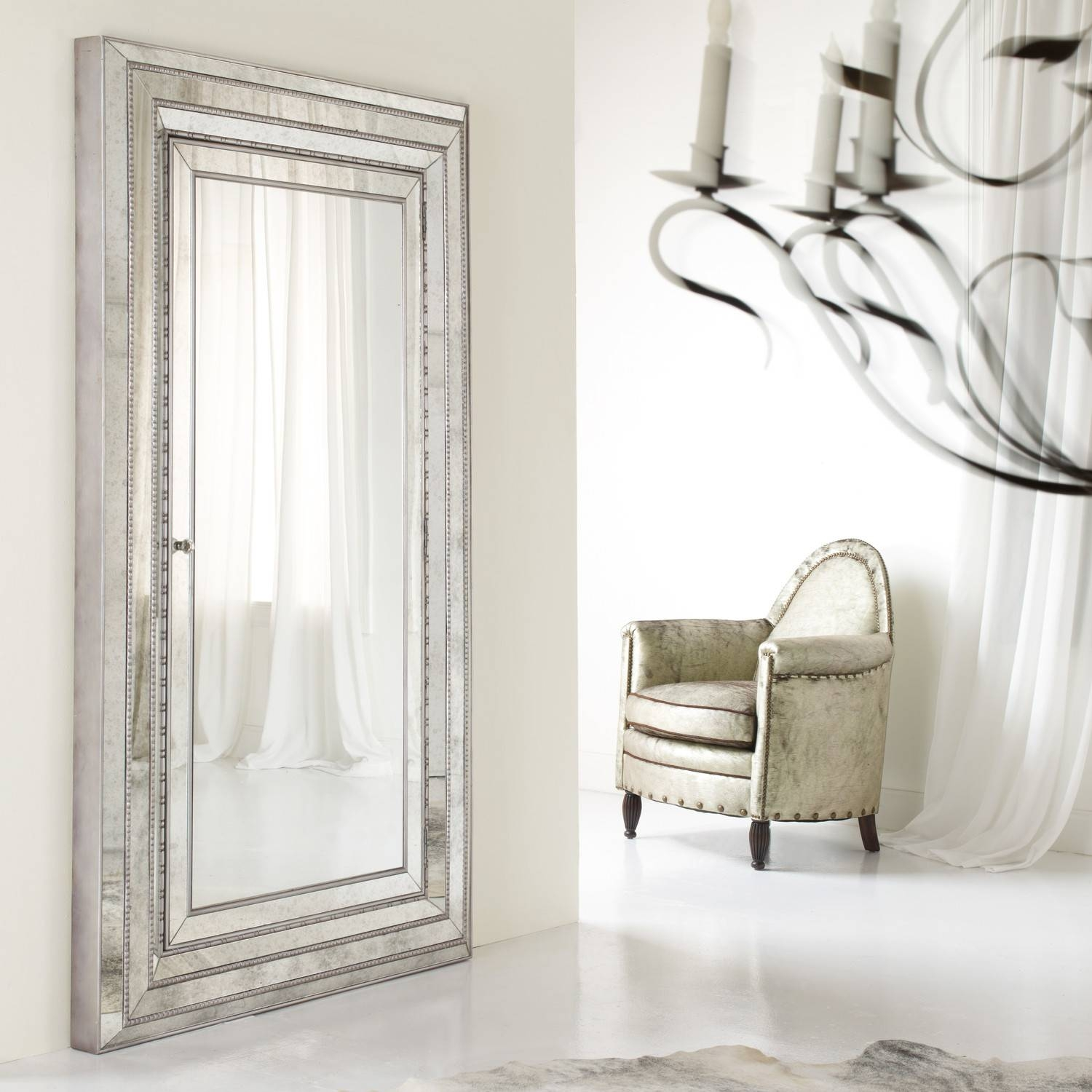 furniture mesmerizing oversized floor mirror for home furniture throughout full length silver mirrors image