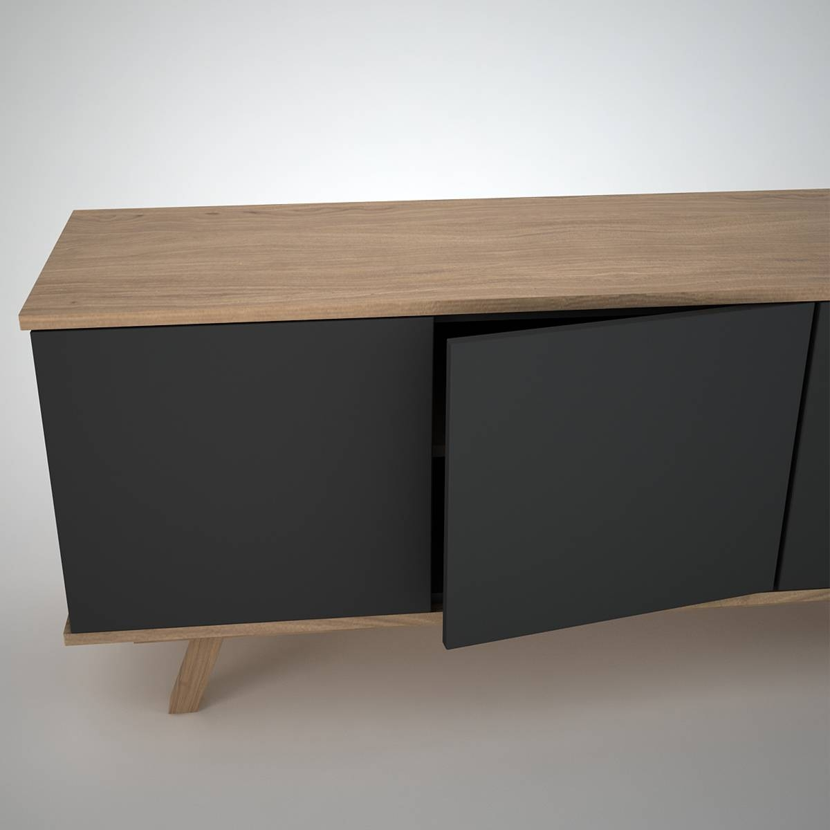 Furniture: Mid Century Modern Sideboard For Inspiring Interior Regarding Modern Sideboard Furniture (View 21 of 30)