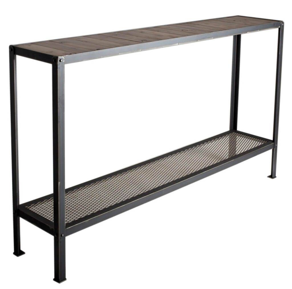 Furniture: Mid Century Wrought Iron Console Table Design - Stylish with Black Wrought Iron Mirrors (Image 13 of 25)