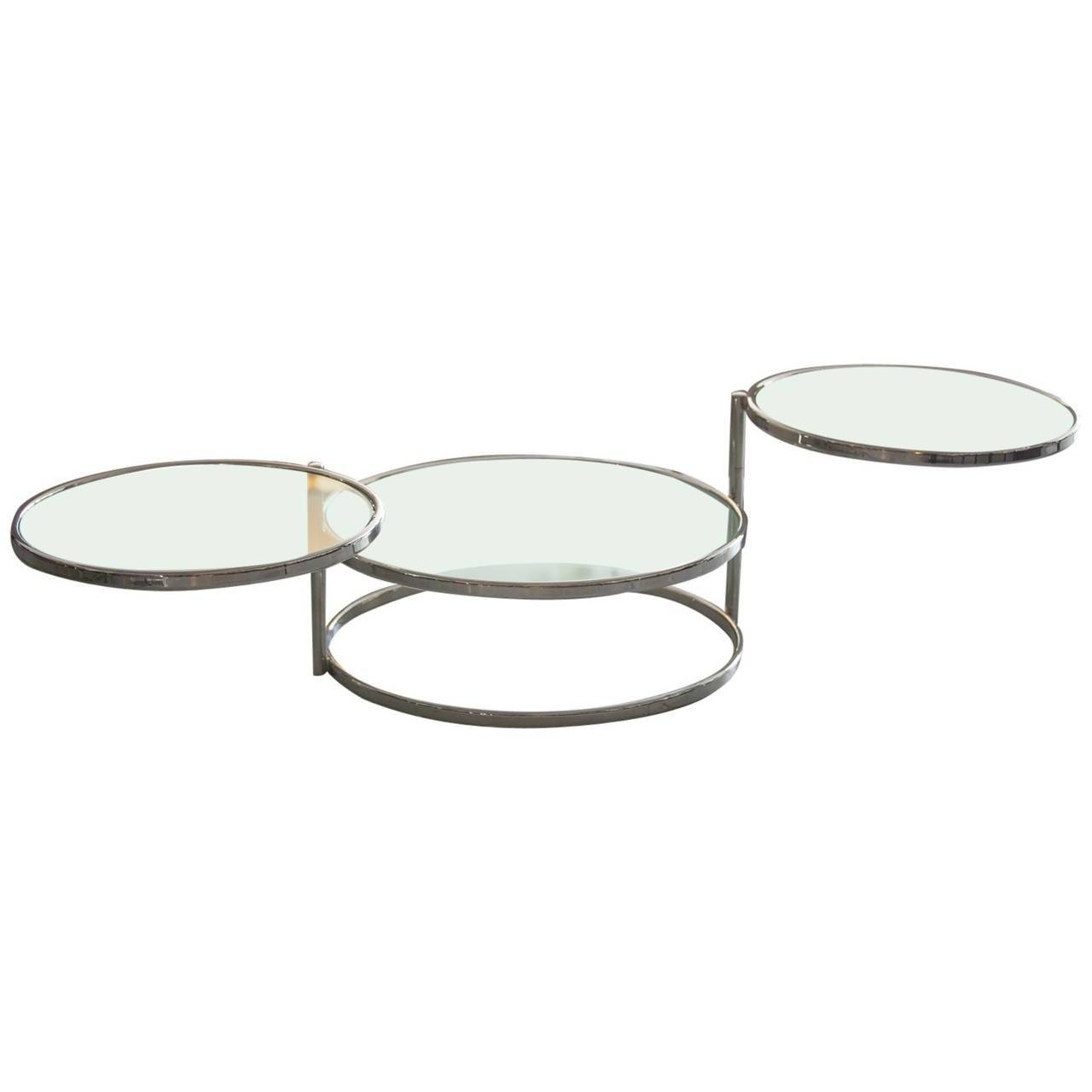 Furniture: Midcentury Side Table | Colored Coffee Tables | Swivel within Round Swivel Coffee Tables (Image 12 of 30)