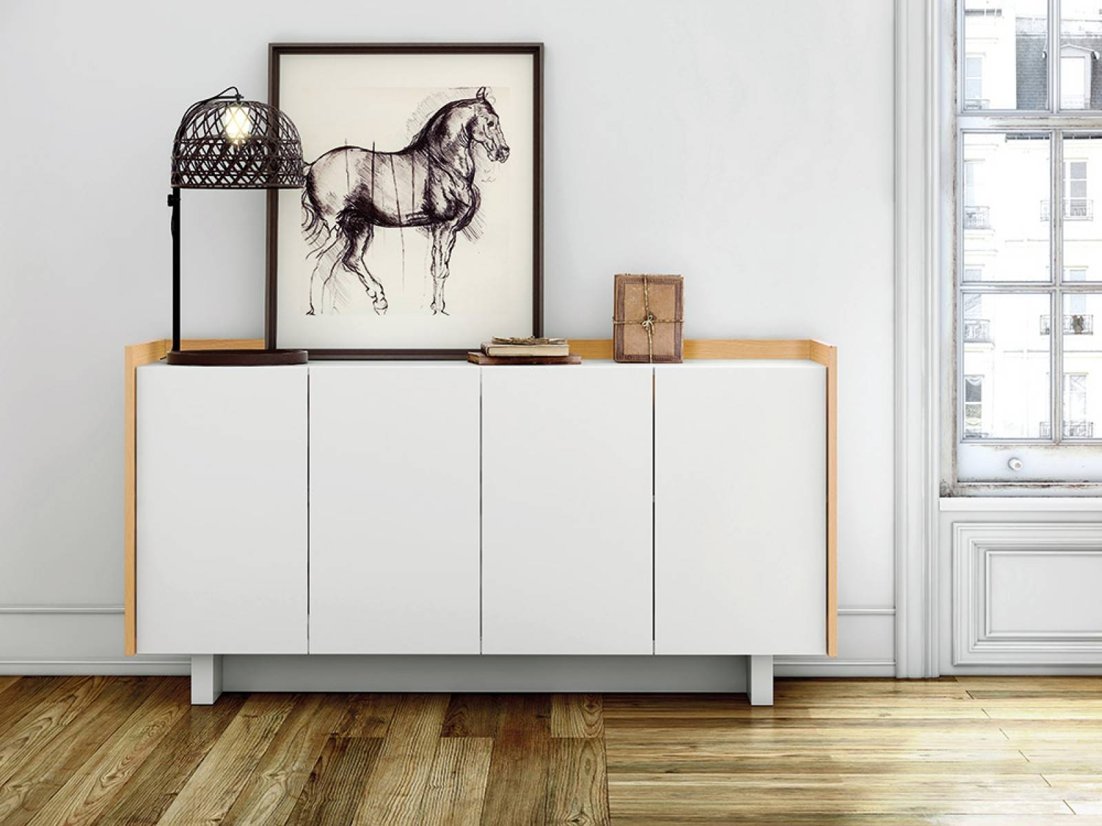 Furniture: Minimalist Modern Sideboard With Sideboard Buffet Table pertaining to Modern Contemporary Sideboards (Image 14 of 30)