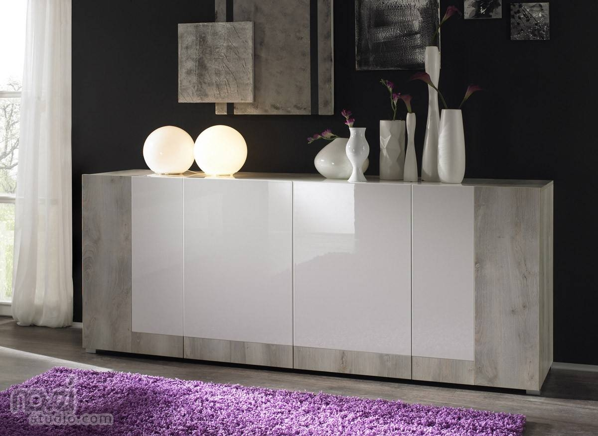 Furniture: Minimalist Modern Sideboards With Glass Front Buffet with Glass Sideboards (Image 12 of 30)