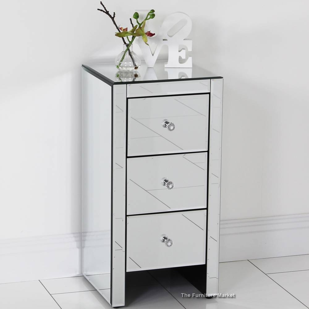 Furniture: Mirrored Bedside Tables | Mirrored Side Table | Mirror in Small Table Mirrors (Image 10 of 25)