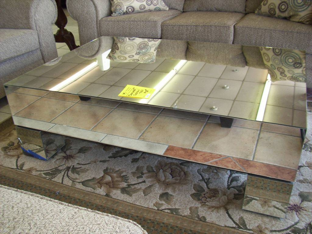Furniture: Mirrored Coffee Table | Bronze Coffee Table | Oval with Oval Mirrored Coffee Tables (Image 12 of 30)