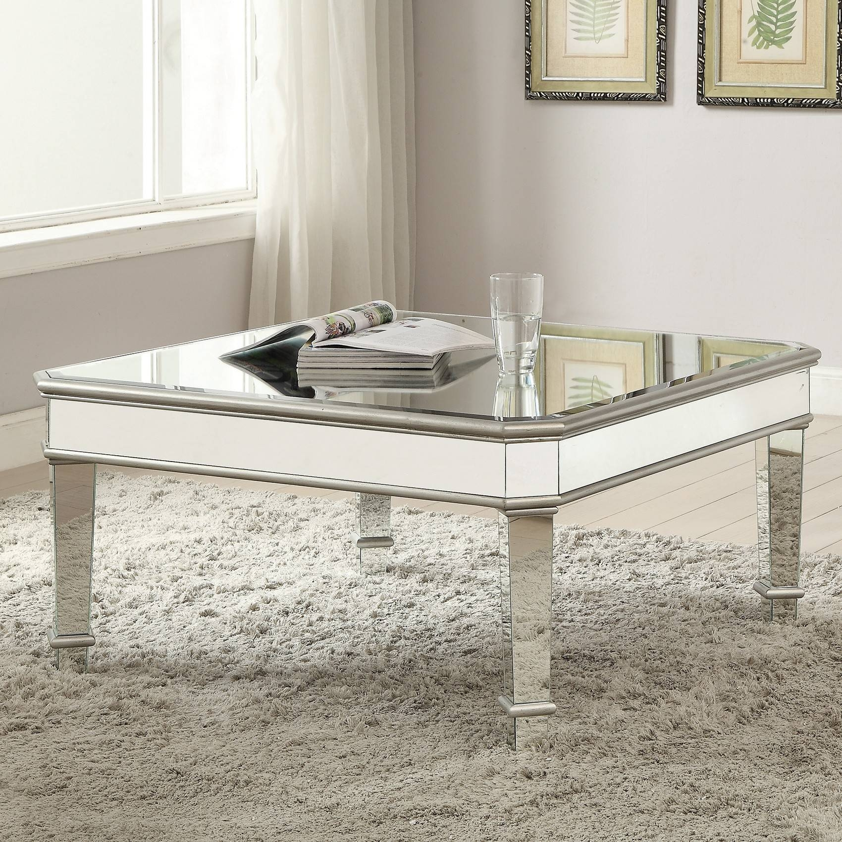 Furniture: Mirrored Coffee Table | Coffee Tables Mirrored Within Glass And Silver Coffee Tables (View 14 of 30)