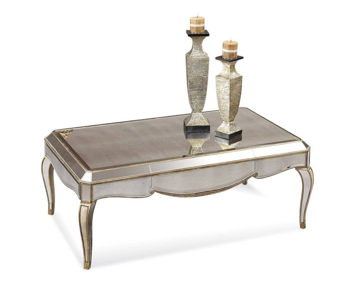 Furniture: Mirrored Coffee Table | Rectangle Glass Top Coffee for Mirrored Coffee Tables (Image 10 of 30)