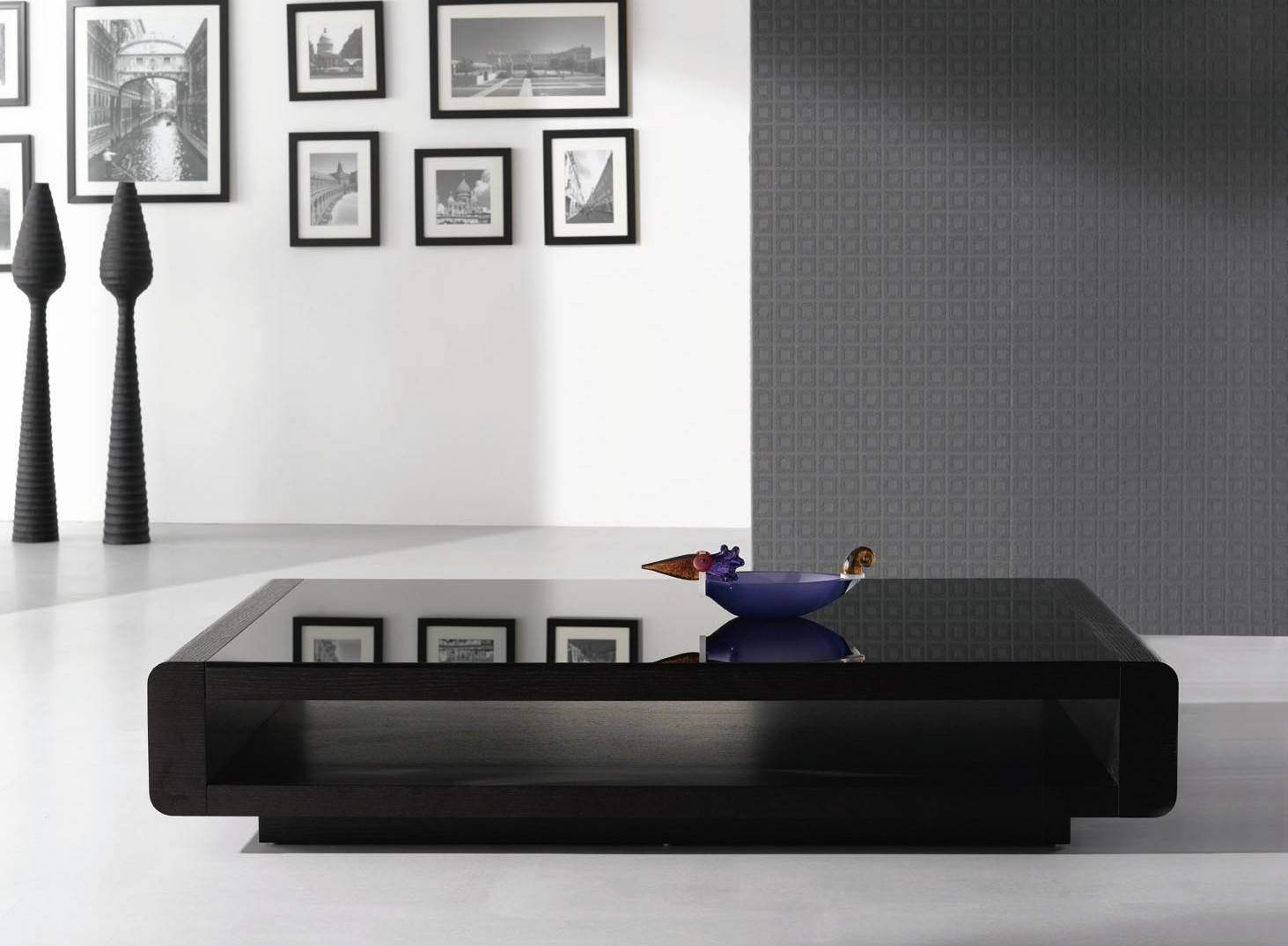 Furniture: Modern Black Coffee Table Ideas Modern Round Coffee pertaining to Glass And Black Coffee Tables (Image 18 of 30)