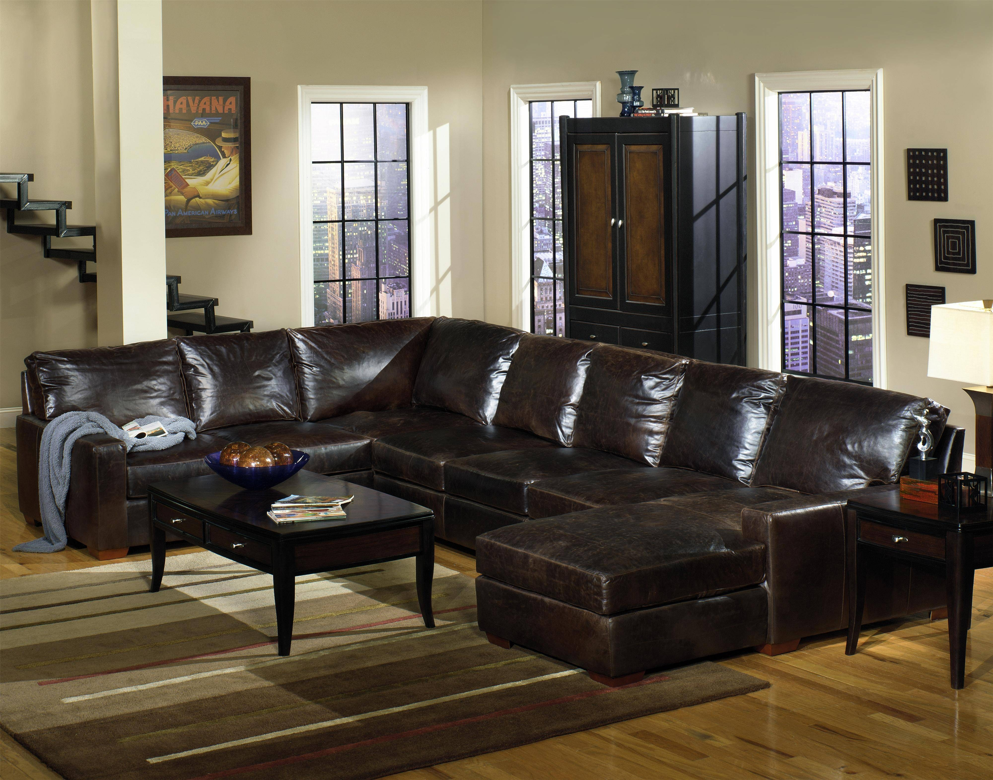 Furniture: Modern Chaise Sectional With Classic Comfortable Design throughout Classic Sectional Sofas (Image 15 of 30)