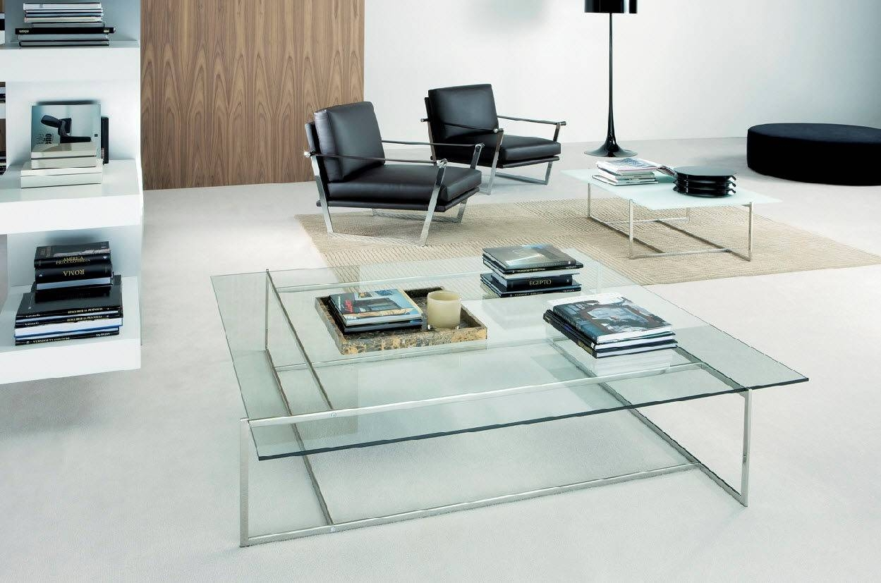 Furniture. Modern Glass Coffee Tables Ideas: Clear Low Extra Large with regard to Contemporary Glass Coffee Tables (Image 21 of 30)