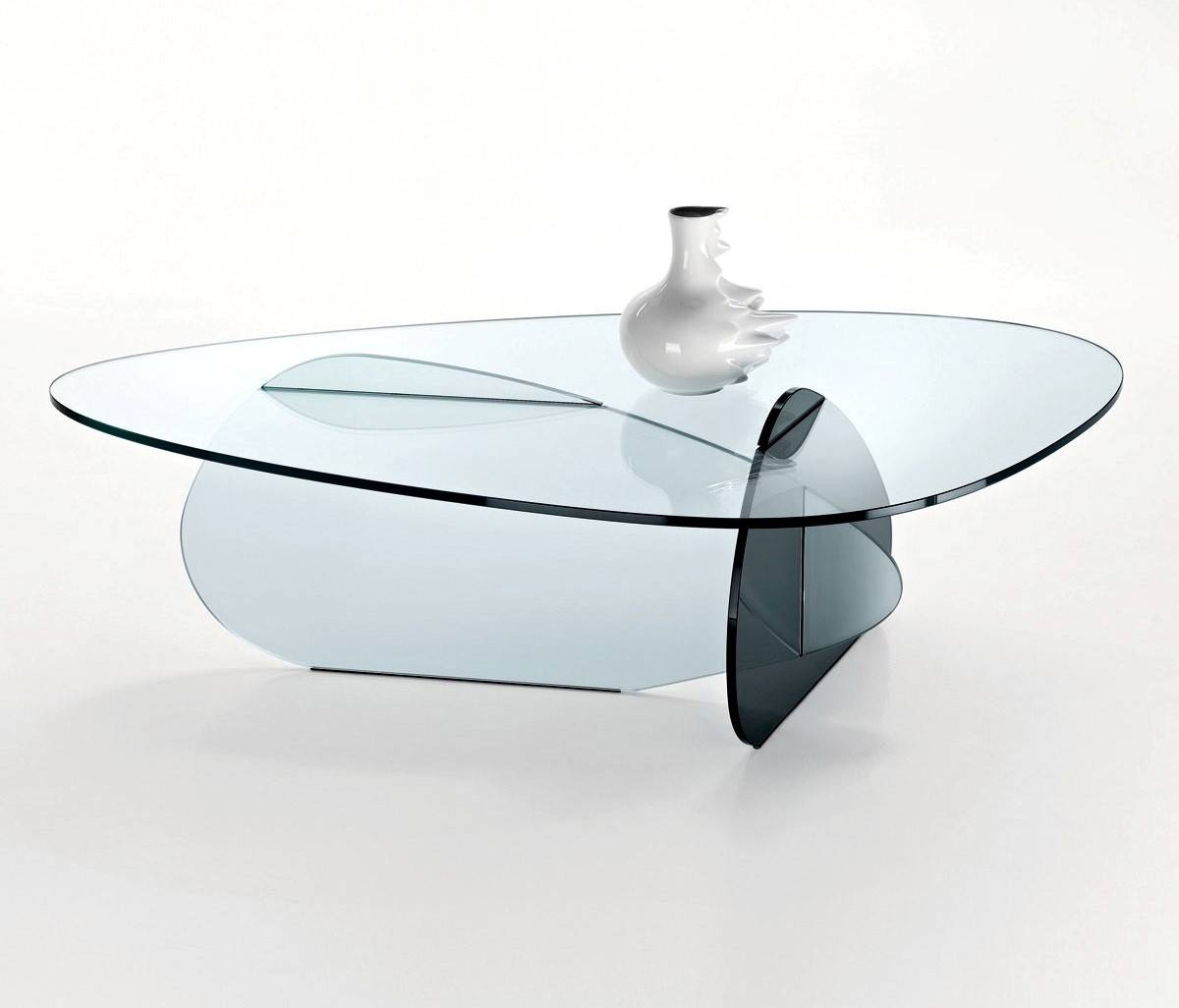 Furniture. Modern Glass Coffee Tables Ideas: Clear Triangle Shaped within Modern Glass Coffee Tables (Image 12 of 30)