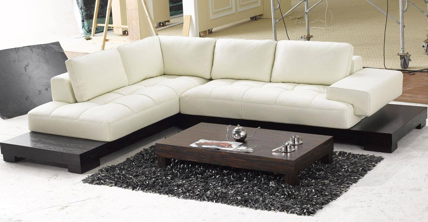 Furniture: Modern Leather Sectional Sofas And High Back Sectional with regard to Convertible Sectional Sofas (Image 11 of 30)
